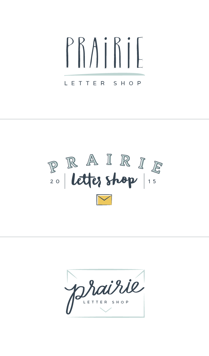 New Brand + Website Design for Prairie Letter Shop | Elle & Company