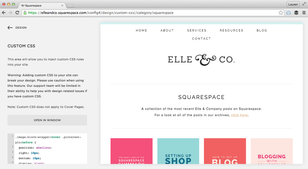5 easy ways to customize your squarespace website. Black Bedroom Furniture Sets. Home Design Ideas