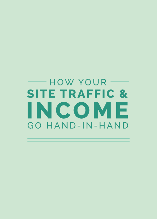 How Your Site Traffic and Income Go Hand-in-Hand - Elle & Company