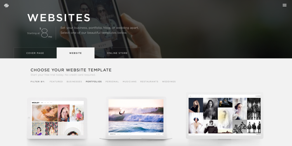 a step by step guide for choosing the right squarespace template