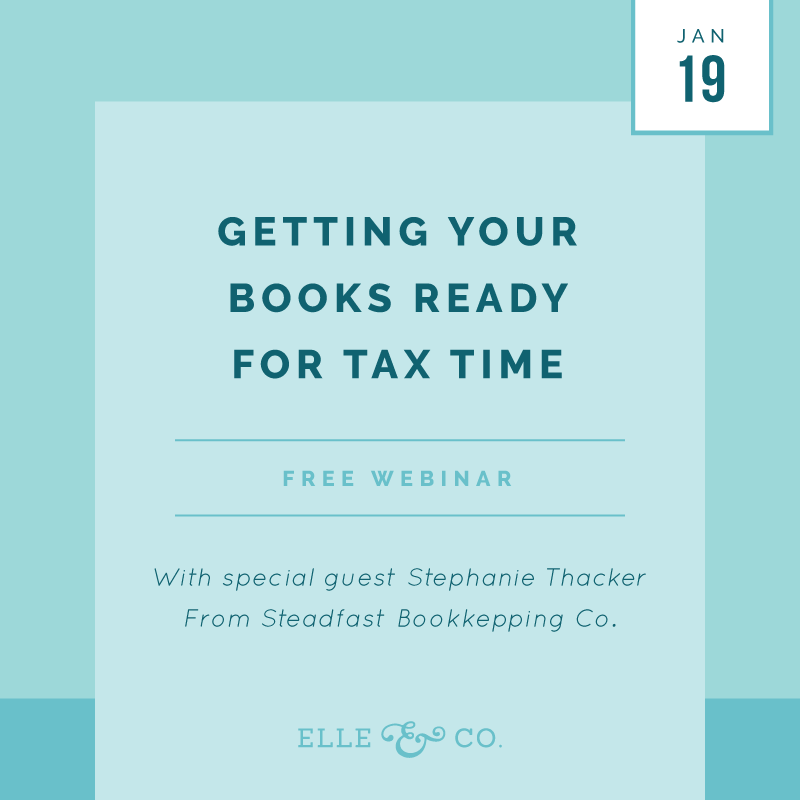 Getting Your Books Ready for Tax Time | Elle & Company