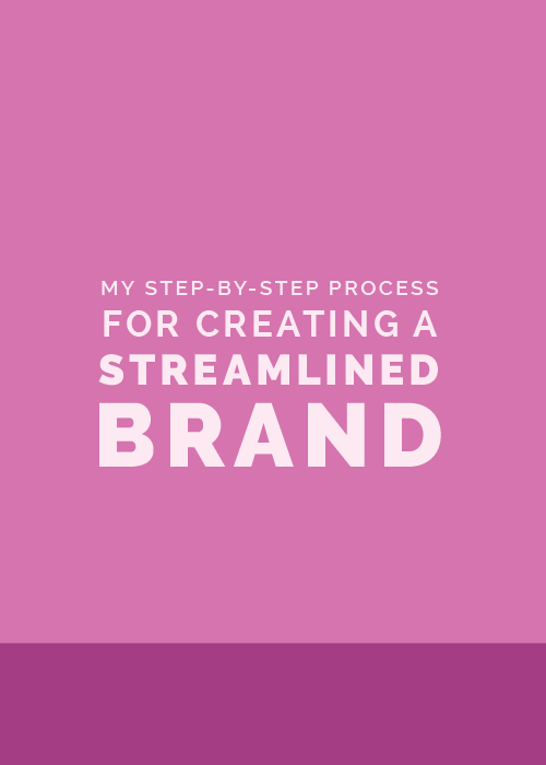 My Step-by-Step Process for Creating a Streamlined Brand | Elle & Company