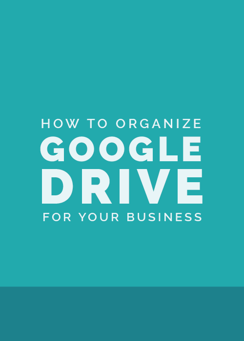 how to organize you files on google drive
