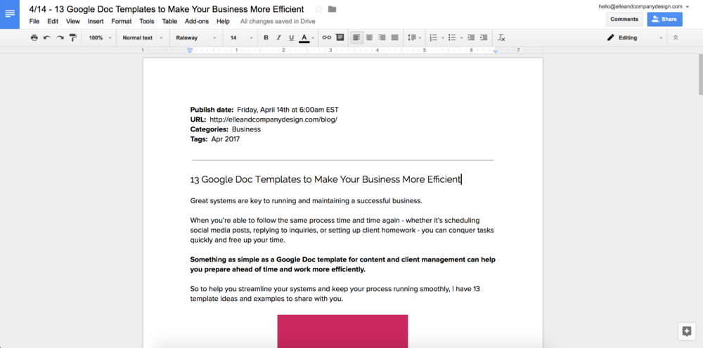 12 google doc templates to make your business more efficient 12 google doc templates to make your business more efficient elle company wajeb