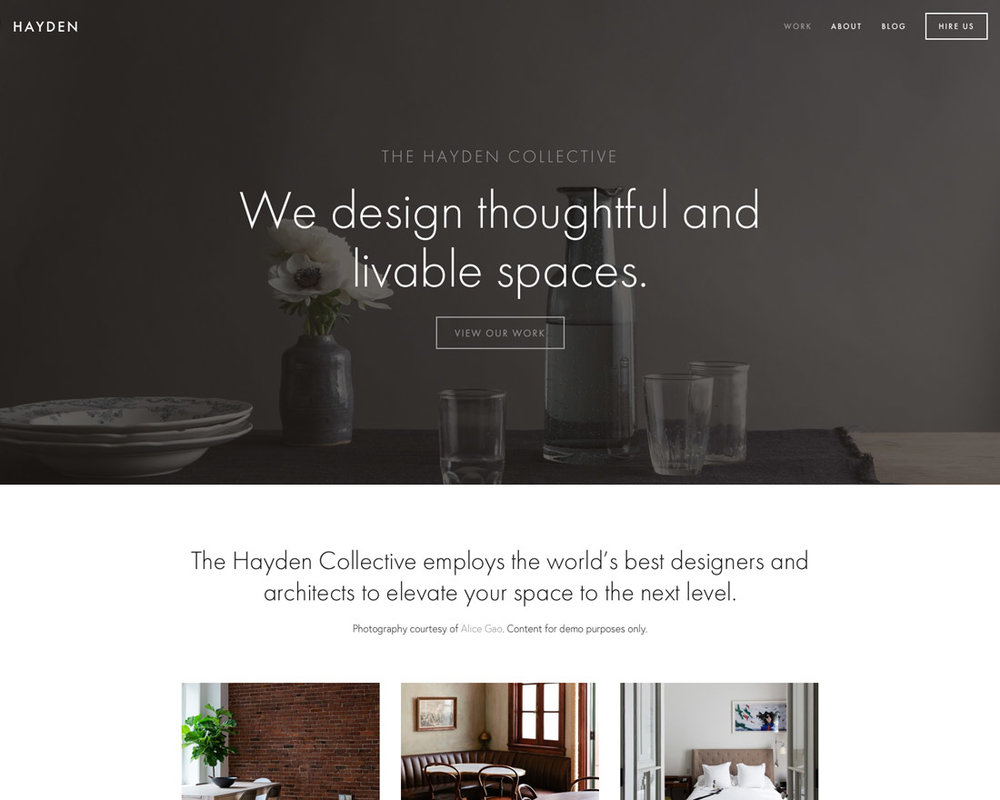 8 of my favorite squarespace templates for creative businesses. Black Bedroom Furniture Sets. Home Design Ideas
