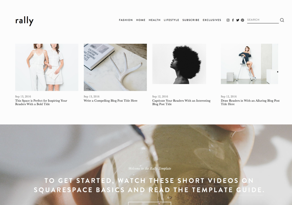 8 of My Favorite Squarespace Templates for Creative Businesses | Elle & Company