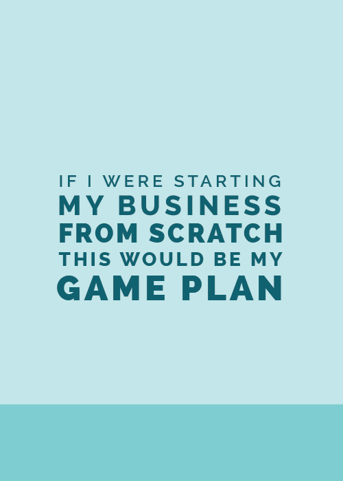 If I Were Starting My Business from Scratch, This Would Be My Game Plan