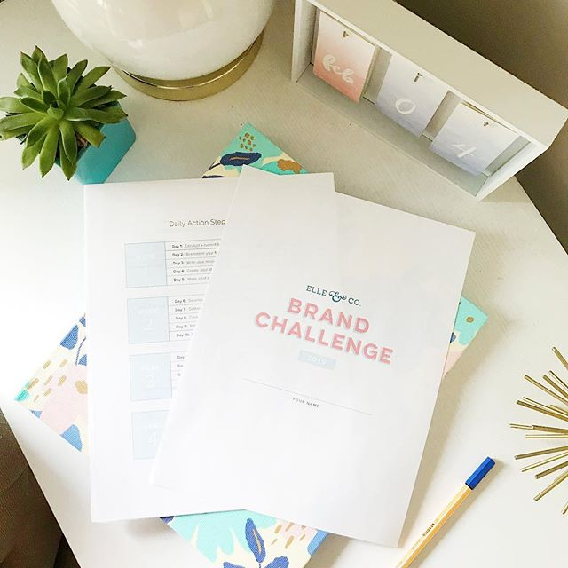 Gearing up for next week!  My annual Brand Challenge is taking place throughout the month of February. Starting next Monday (2/4), I'll be walking you through my brand design process from start to finish with simple daily action steps delivered straight to your inbox each weekday 📬 And it's FREE!  Does your brand need a facelift? Head to my Story for more details or visit the link in my profile 👏🏼