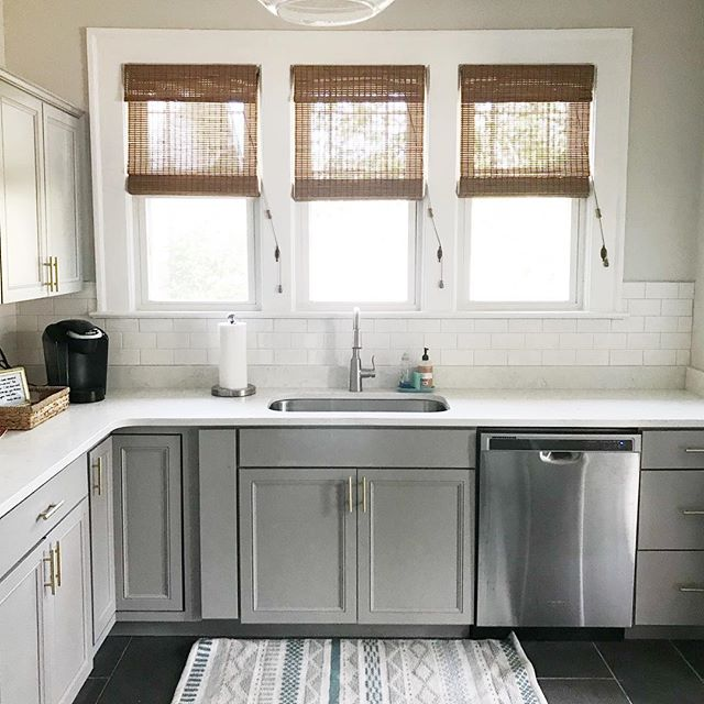 A fun little before and after of our kitchen 👉🏼 It's come a long way!  I've been busy cleaning and preparing for friends and family who are coming in town for Jake's ordination tomorrow, so I thought I'd snap a photo while it was clean 🙃  The design process has been both fun and overwhelming, but it's been so fun making this place feel like ours! It's slowly but surely coming together 💛