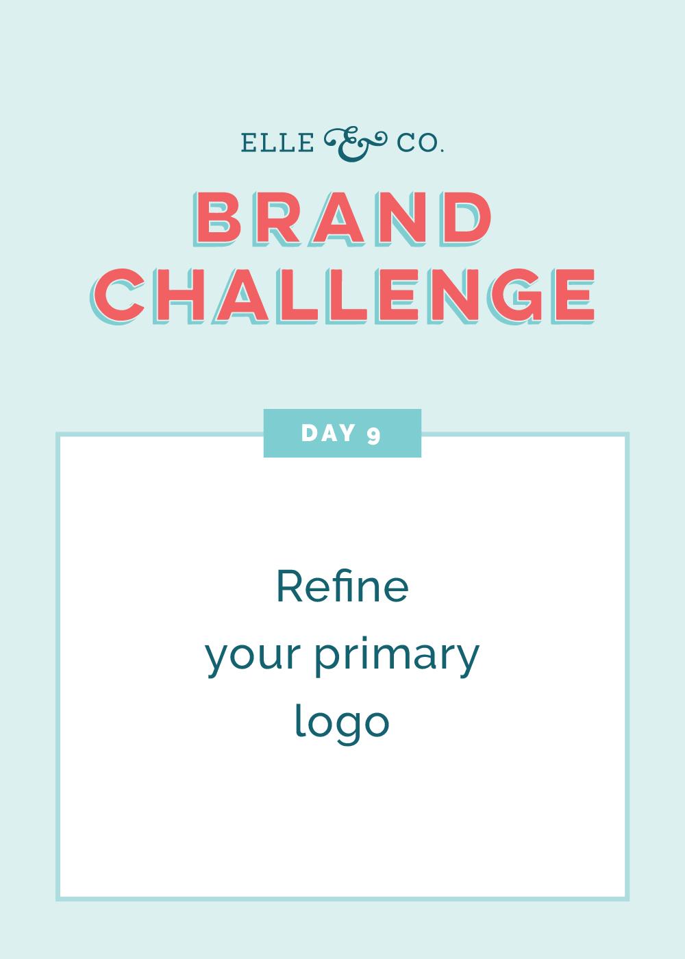 Brand Challenge Day 9: Refine your primary logo | Elle & Company