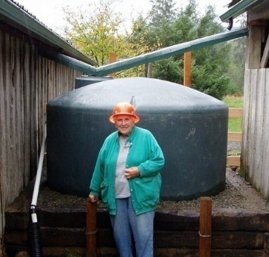 New Rainwater Harvesting Guide now available! - The Rainwater Harvesting Guidewill help you learn the basics on how to collect and store roof runoff for use as stock water and irrigation. Pictured is a 1,100 gallon cistern used to collect roof water for livestock watering on a farm in Clallam Bay.