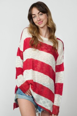 Show Me Your Mumu - Bonfire Sweater in Stripes