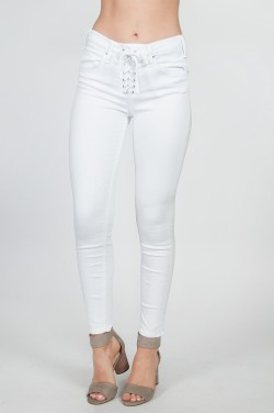 McGuire - Cropped Shore Leave Slim Jeans in White Realm