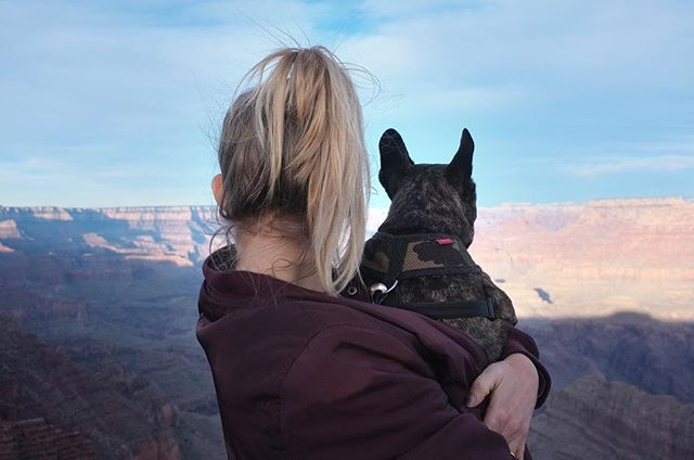 Leroy and Erin taking in the views at Grand Canyon. 🌄