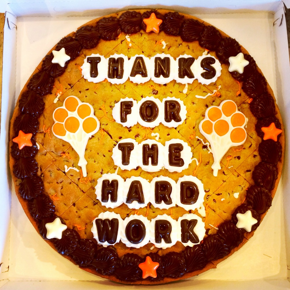 I love cookie cakes far more than most regular cakes.