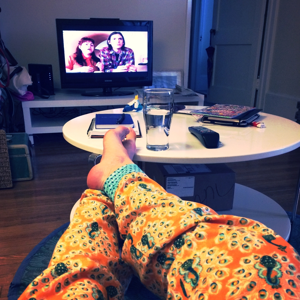 Back to my ideal weekend: flannels on, feet up, movie time. Name that movie to move up on the ladder to bestest friendship.