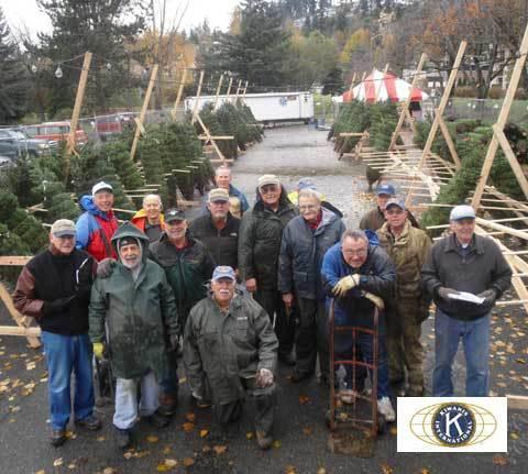 Kiwanis Club Christmas Tree Lot 2012