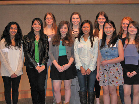 Kirkland juniors recognized by AAUW for excellence in math, science and technology.