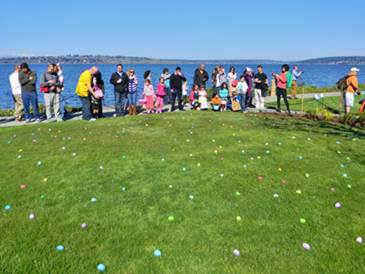 Approximately 3,000 Easter eggs speckled the lawn at the Woodmark Hotel, Yacht Club and Spa for the third annual Easter Egg Scramble on March 30, 2013.