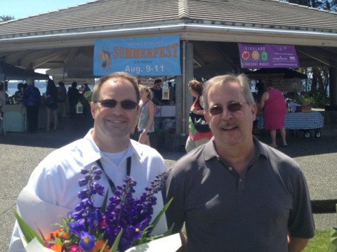 City Manager Kurt Triplett and Kirkland Downtown Association President, Vince Isaacson