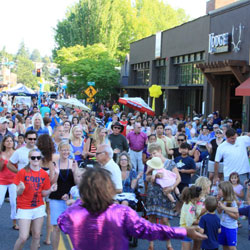 12, the  KIDS' FAVORITE event,       KIRKLAND SUMMERFEST  (2nd weekend in august)   fills  downtown with.art, music and fun for the whole family.