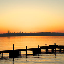 2. The  Sunsets  viewed along  Lake WA Blvd  from Carillon Point , Houghton Beach, Marsh Park & David E. Brink Park.