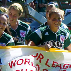 9. Each summer, teams from around the world compete in the  Junior Softball World Series in Everest Park .