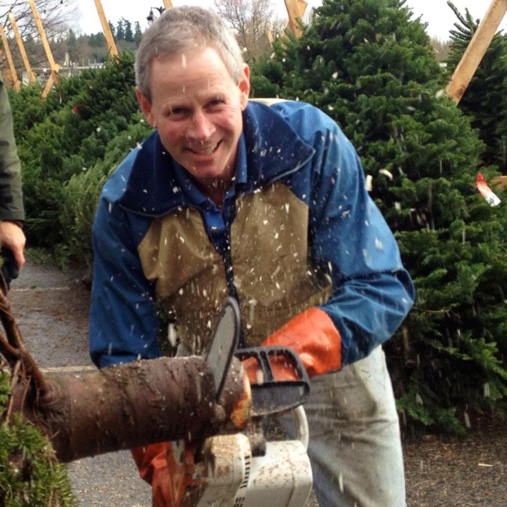 Finding the perfect tree at the Kiwanis Christmas Tree Lot at Juanita Beach Park