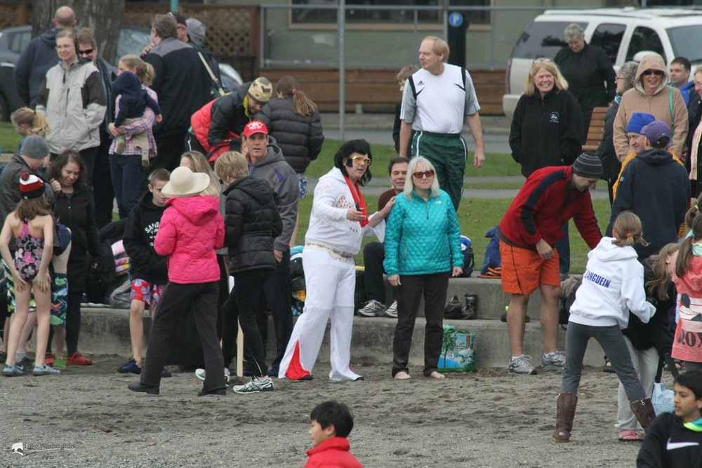 Mayor Joan McBride at the Polar Bear Plunge
