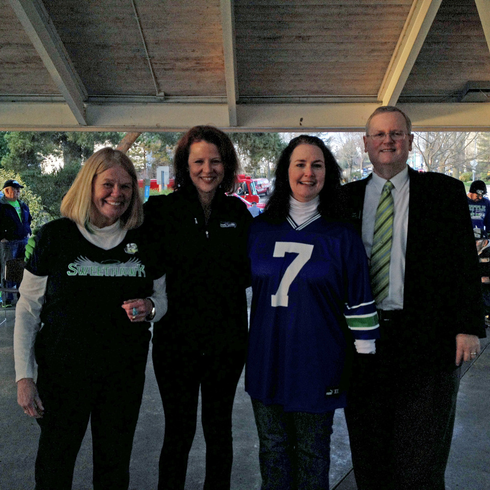 Deputy Mayor Penny Sweet, Mayor Amy Walen, Councilmembers Shelley Kloba and Toby Nixon
