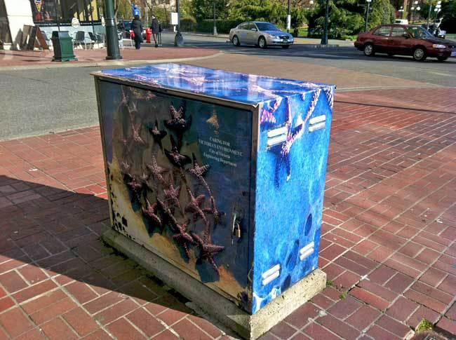 Utility box in Victoria, BC