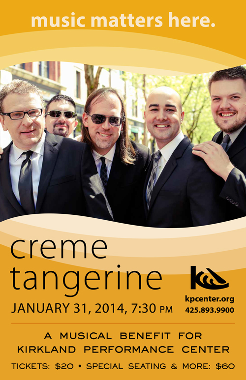 Lockhart and his fellow Creme Tangerine bandmates performed a benefit concert to a sold out crowd at KPC in January.