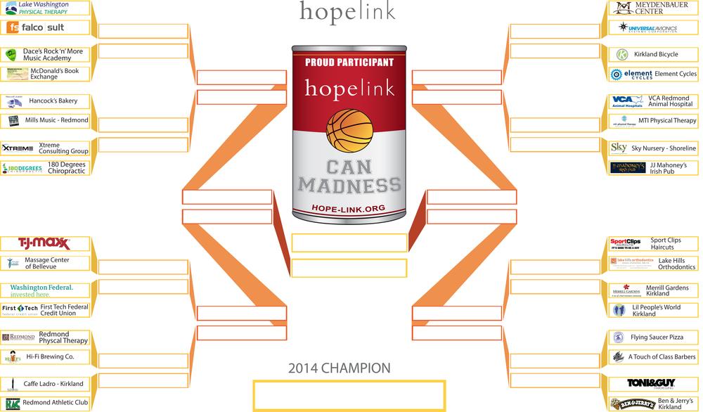 2014 Hopelink Can Madness Bracket -  WEEK ONE.jpg