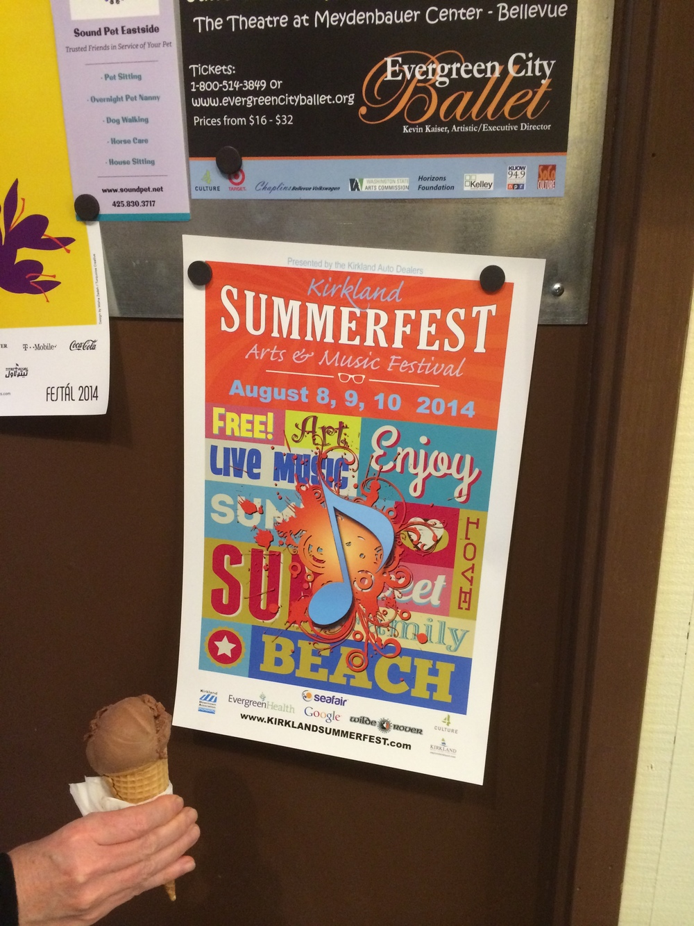 Summerfest post spotted at Sirena Gelato on Park Lane.