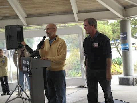 45th district Reps. Larry Springer and Roger Goodman campaigning for Suzan DelBene in Kirkland, 2012