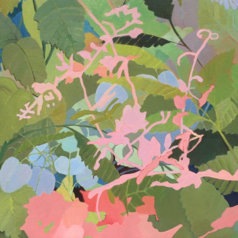 """Patty Haller, """"Swiss Triptych""""(one of three panels),oil on panel,14""""x 14"""""""