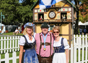 Michelle Sailor, Rob and Kate Butcher at Kirkland Oktoberfest 2014