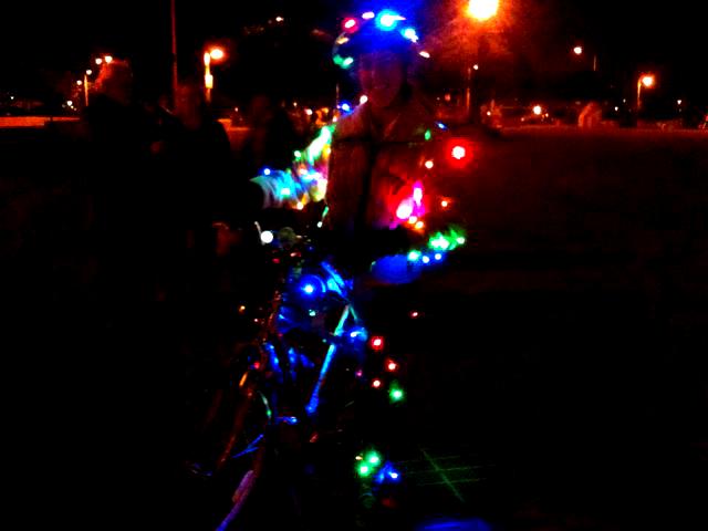 A parade of bikes