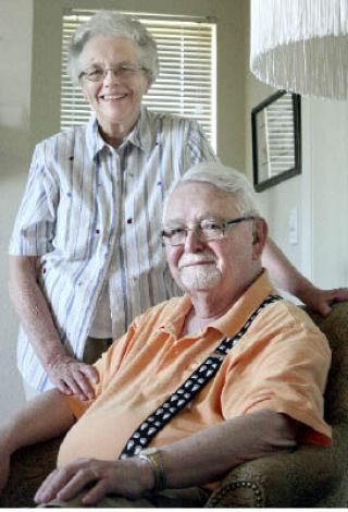 Dick and Sandy Ekins at home in 2008.Source: Kirkland Reporter—Image Credit: Katherine Ganter/Reporter Newspapers