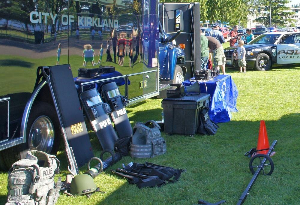 KPD equipment on display at Juanita Beach Park in 2011