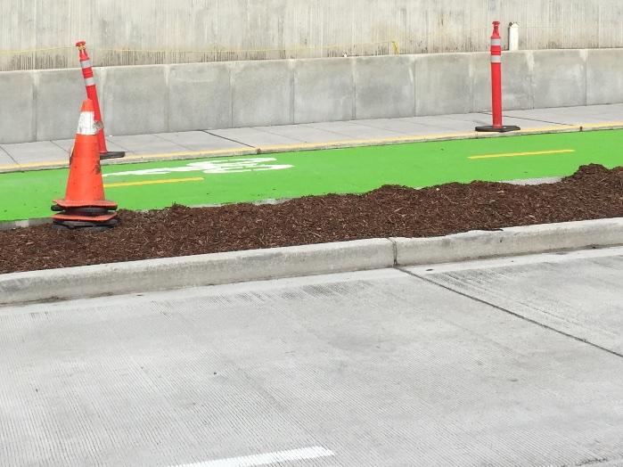 Mercer Street improvements include separated green bike lanes