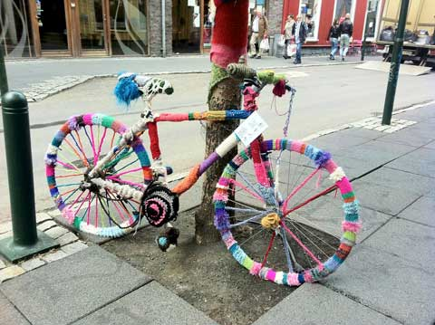 This artsy bike was seen in Reykjavik, Iceland