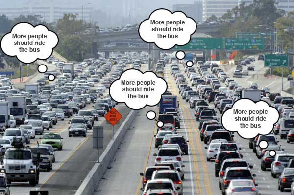 Reality check:This is what is going through the minds of many commuters.