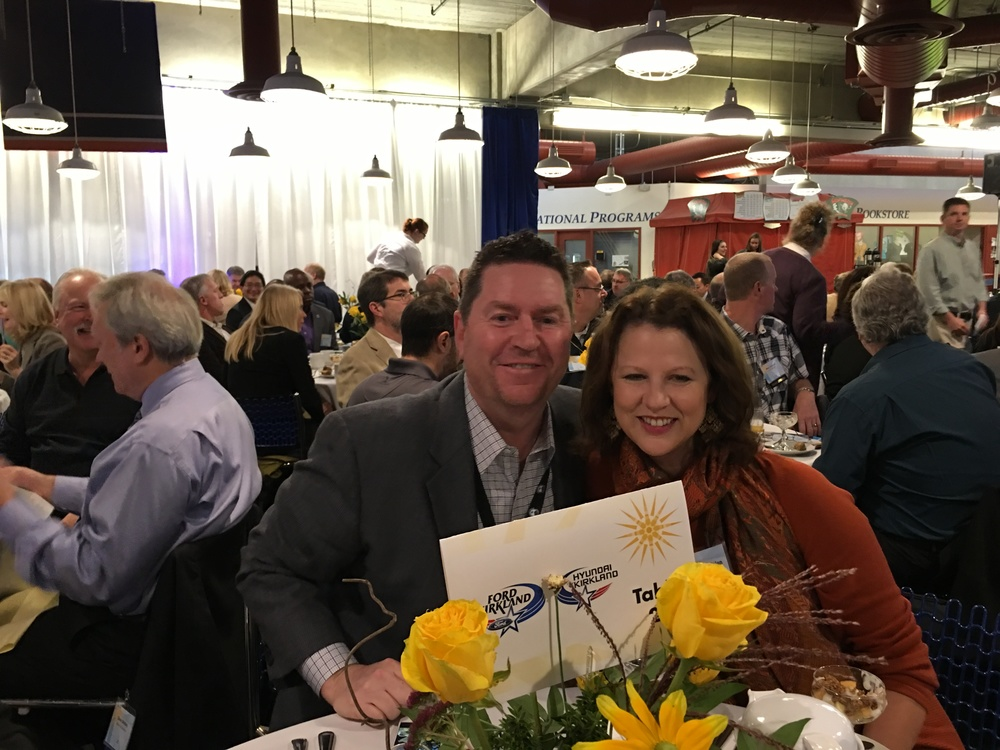 Jim and Amy Walen representing Ford of Kirkland / Hyundai of Kirkland a sponsor of the annual benefit breakfast.