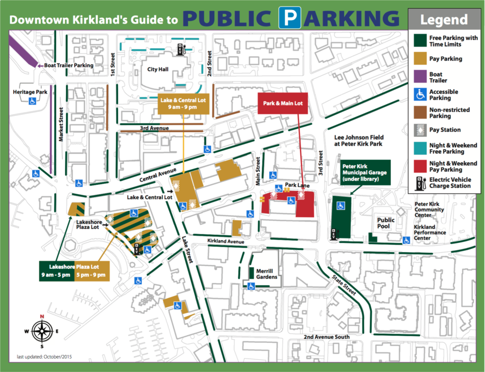 New parking guide as of 10/20/2015