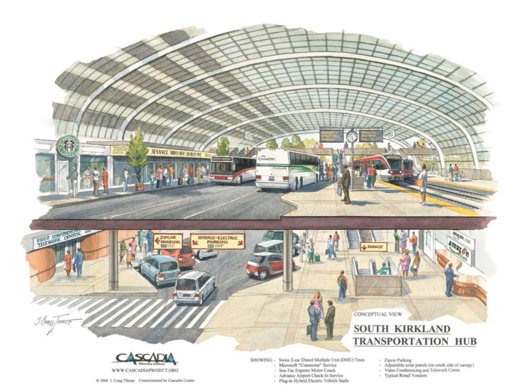 The dream that never came true: The South Kirkland Transportation Hub. Source:http://www.cascadiacenter.org