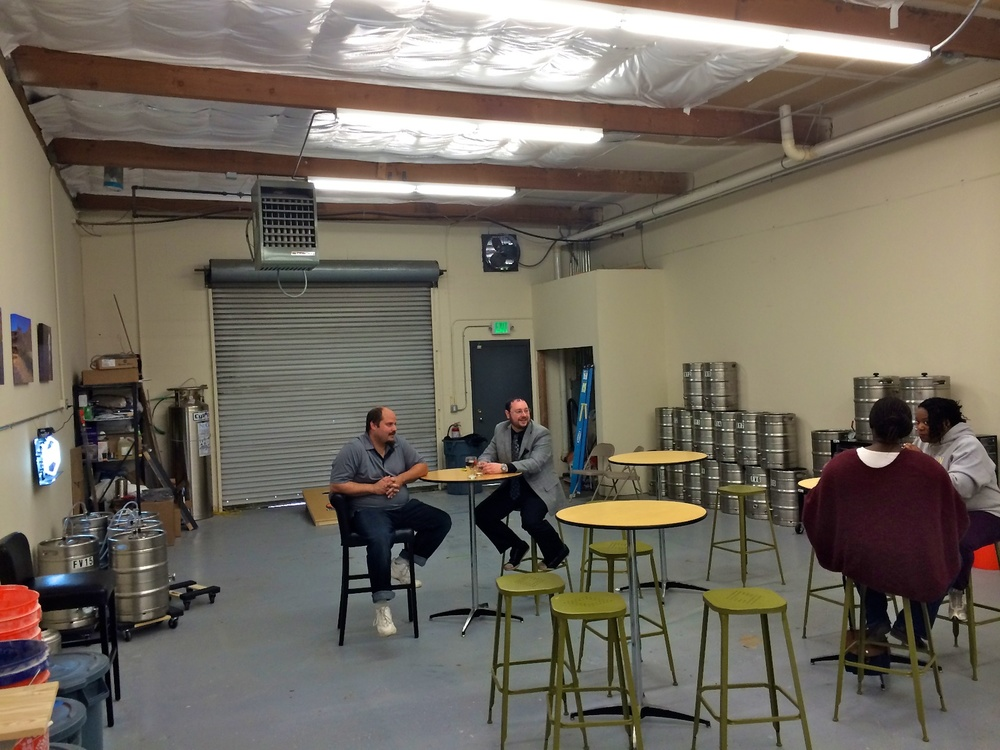 Two Year Ago: the brew room as it was. Today, Flycaster has expanded capacity. Check it out!