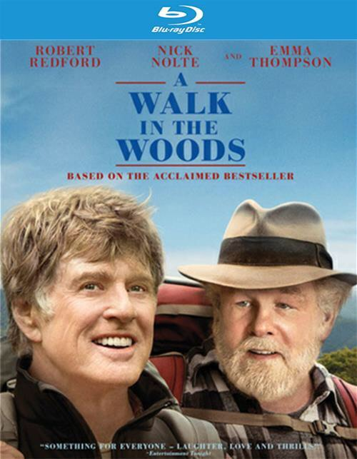 Robert Redford and Nick Nolte in the promo image for A Walk In The Woods. They almost don't look recognizable.
