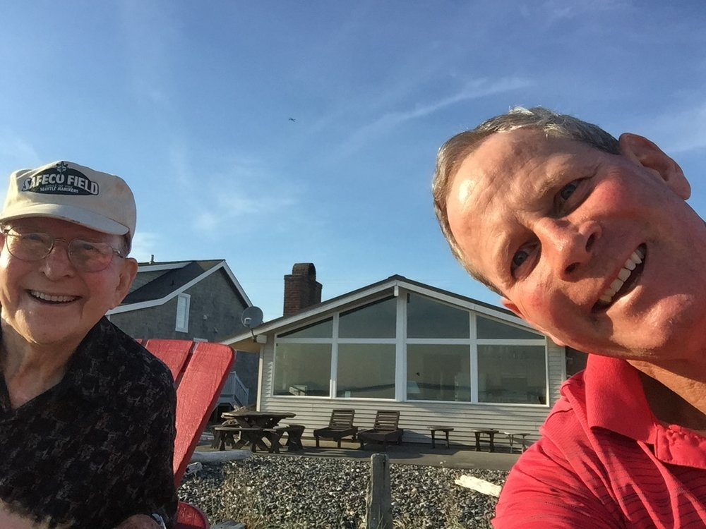 Dick and son Mark Shinstrom enjoying a day together at the cabin.