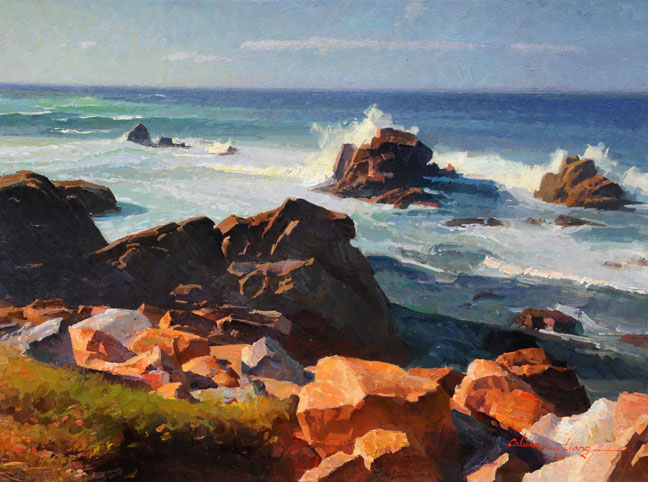 """Ocean View, Carmel"" is by Calvin Liang"